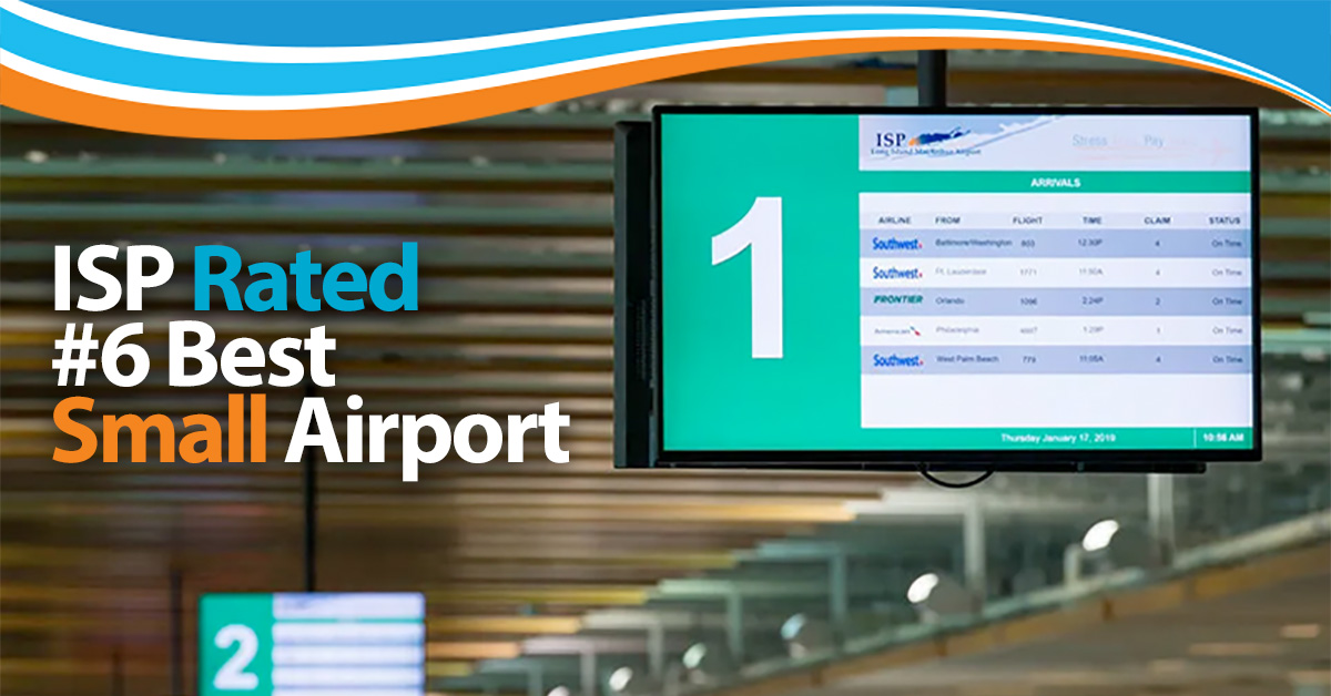 ISP Rated #6 Best Small Airport