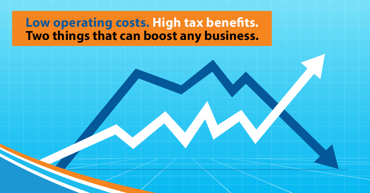 Low operating costs. High tax benefits.